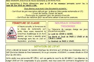 Flash Info Mai 2015 – N°31