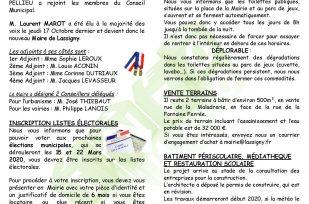 LA NOUVELLE LACHENOISE NOVEMBRE 2019 – N°48