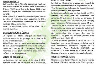 LA NOUVELLE LACHENOISE SEPTEMBRE 2019 – N°47