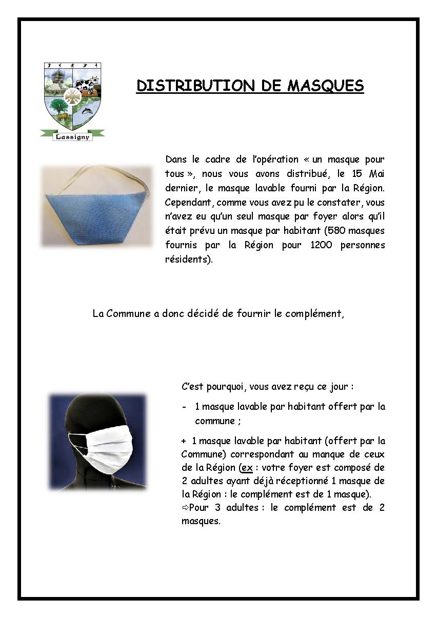 Explications pour la distribution du 29 mai