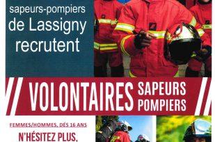 Les pompiers de Lassigny recrutent
