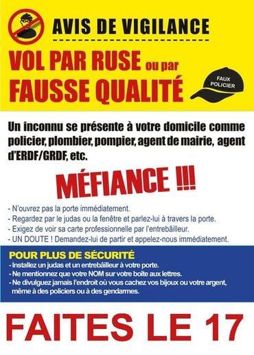 tract faux démarcheurs vigilance